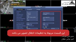تنظیمات انتقال تصویر در dvr